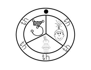 Phonics Freebie Turkey Digraphs Circle Craftivity