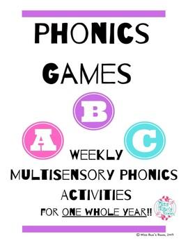 Phonics Fridays - A Year of MultiSensory Phonics Activities