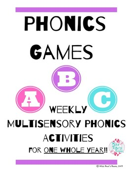 Phonics Games - One Year of MultiSensory Phonics Activities