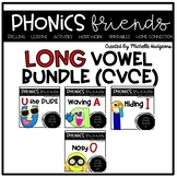 cvce: Long Vowels Phonics Friends BUNDLE