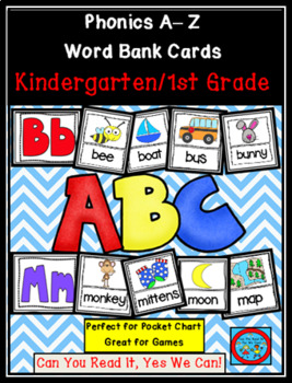 Phonics Fun A to Z Word Bank Cards