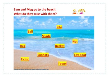 Phonics Fun - Beach Bag Items