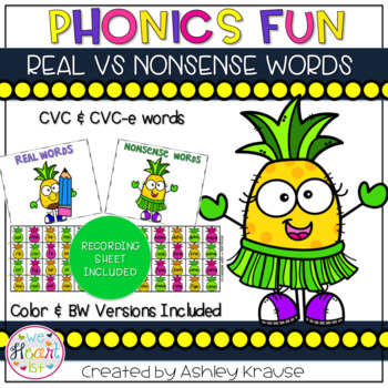 Phonics Fun - CVC & CVC-E Words #summersalebration