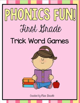 Phonics Fun First Grade Level Trick Word Games