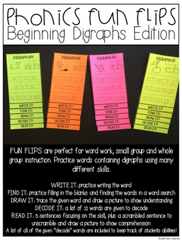 Phonics Fun Flips Beginning Digraphs