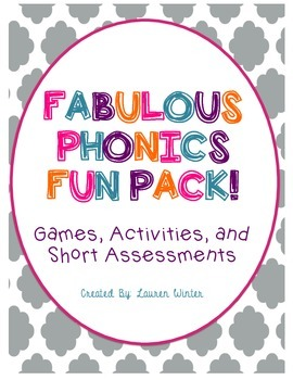 Phonics Games, Activities, and Assessments