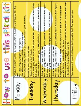 Phonics Fun Spiral - Short Vowels - A 6 week Unit