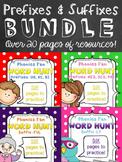 Phonics Fun Word Hunt BUNDLE - Prefixes & Suffixes