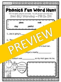 Phonics Fun Word Hunt Pack - A_E, AI, AY Pattern