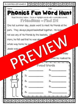 Phonics Fun Word Hunt Pack - All R-Controlled Vowels