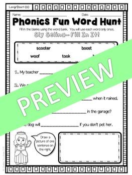 Phonics Fun Word Hunt Pack - OO Pattern