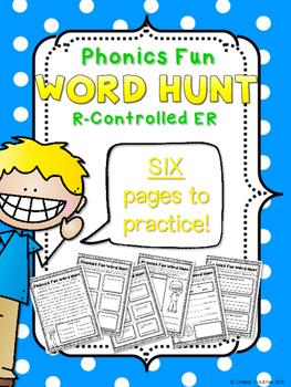 Phonics Fun Word Hunt Pack - R-Controlled ER