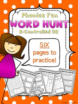 Phonics Fun Word Hunt Pack - R-Controlled UR