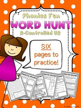 Phonics Fun Word Hunt Pack - R-Controlled UR