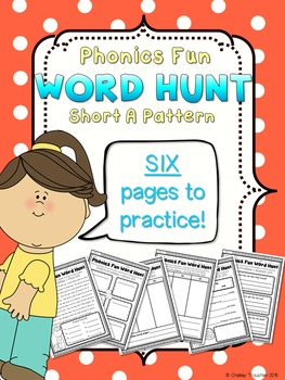 Phonics Fun Word Hunt Pack - Short A Pattern