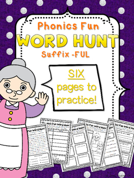 Phonics Fun Word Hunt Pack - Suffix -FUL