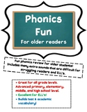 Phonics Fun for Older Students