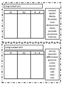Phonics Word Sorts for Older Students