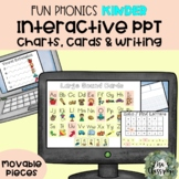 FUN Phonics Kinder Charts, Cards, Boards interactive for Distance Learning -PPT