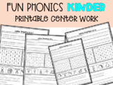FUN Phonics Printable Sheets, center work, letter of the week.