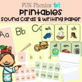 FUN Phonics Printables | 1st | LARGE Cards, SMALL Cards, Writing paper
