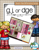 Phonics G, J, or _dge? Activities that Teach the Difference