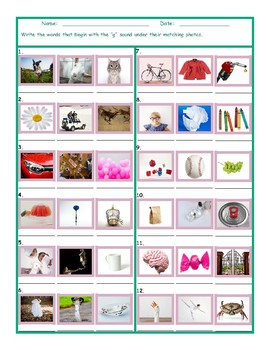 Phonics G Sound Photo Worksheet