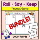 Phonics Game BUNDLE: Roll Say Keep