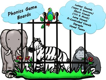 Phonics Game Boards- Activity