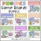 Phonics Game Boards Full Year Bundle (70 Boards) with Editable Recording Pages