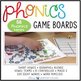 Phonics Board Games - Full Year Phonics Bundle of 58 Phonics + Sight Words Games