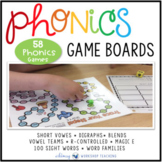 Phonics Game Boards Full Year Bundle (70 Boards) - Whimsy