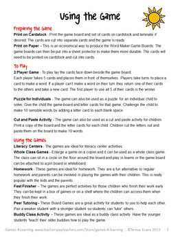 Phonics Game CVC Freebie