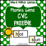 Phonics Game Free: CVC Game for Short Vowel CVC Words