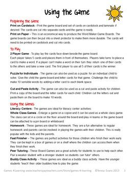 Phonics Game Free: CVC Game for Short Vowel CVC Words