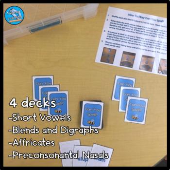 Phonics Card Game: (Short Vowels, Blends, Digraphs, Affricates, Pre-Nasals)