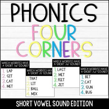 Phonics Game - Four Corners Short Vowel Sounds