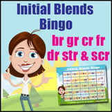 Initial Blends Game - Bingo - {br, gr, cr, fr, dr, str & scr)