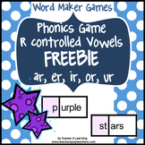 Free R-Controlled Vowels Game with ar, er, ir, or, ur