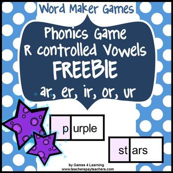Phonics Game R Contolled Vowels Freebie ar er ir or ur