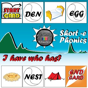 Phonics Game - Short E - I Have Who Has