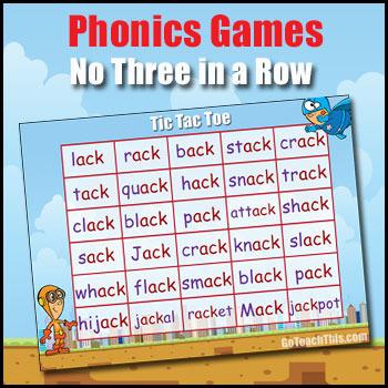 Phonics Game - ack, ain, air, ain & ame, ank, ale & ail, ash, aw, ear or & oar