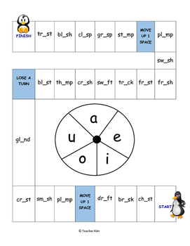 Phonics Game for Blending 4 and 5 Sounds - Beginning/Ending Blends and Digraphs