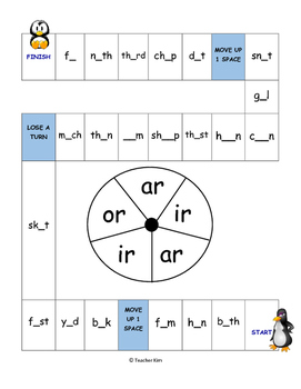 Phonics Game for Bossy R (with ir ar or)
