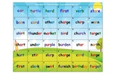 """Phonics Game"" for Controlled R - 4 in a Row Phonics Game"