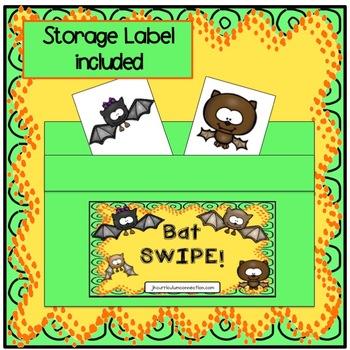 Phonics Game for Short A - BAT SWIPE Game {EDITABLE}