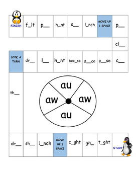 Phonics Game for au and aw