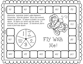 Phonics Game for -y