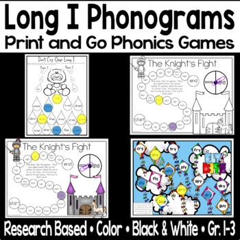 Long I Phonogram Phonics Game -y -igh