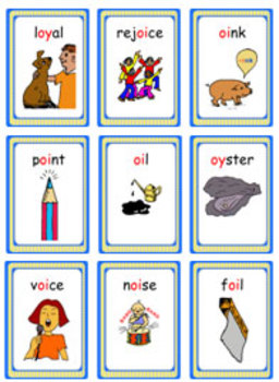 'Phonics Game': A Game of Phonics for Teaching oy & oi - Gurgling Gargoyle